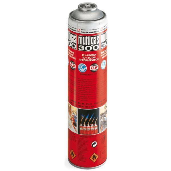 Gas za boce za jednokratnu upotrebu,Multigas 300.600ml, Rothenberger (ROT 35510)