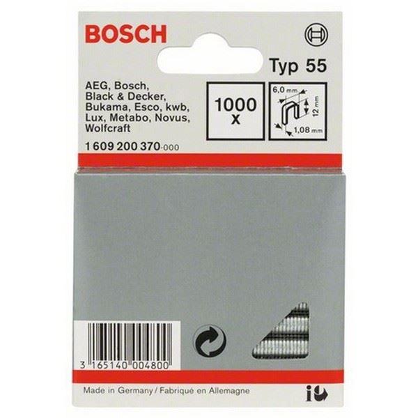 Spajalica sa uskim leđima tip 55 Bosch 1609200370, 6 x 1,08 x 12 mm (1609200370)