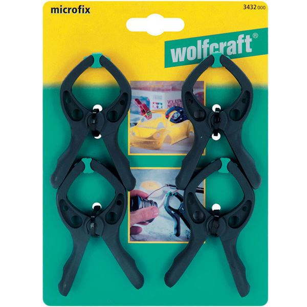 Štipaljka stega microfix 4 kom - 3432000, Wolfcraft (3432000)