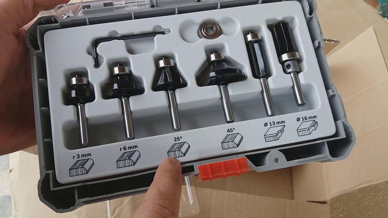 Komplet glodala, 6 komada, Trim&Edging držač od 6 mm Bosch 2607017468 (2607017468)