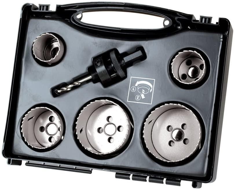 Set krunastih testera BiM u koferu sa adapterom Wolfcraft 3764000,  fi 35, 40, 51, 65, 68 (3764000)