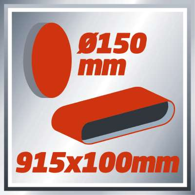 Dvostrana brusilica sa trakom i diskom Einhell TC-US 400, 375W (4419255)